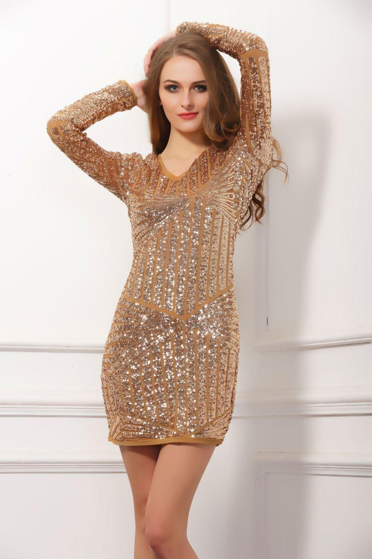 Sequins Long Sleeve dress