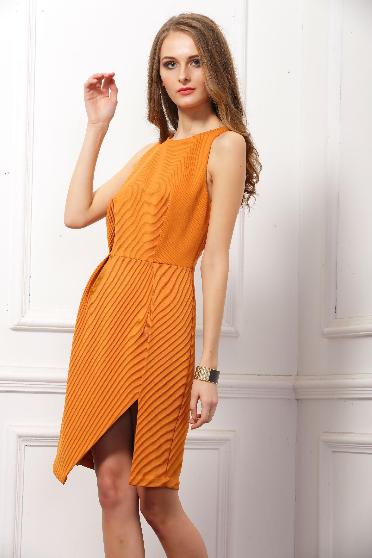 New York split dress