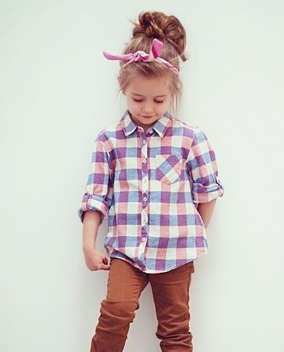 Girls Cotton Check Shirt