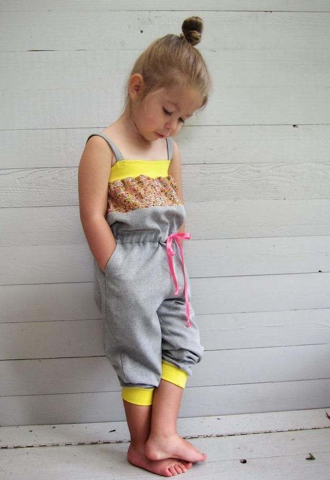 Girls Cotton Jumpsuit